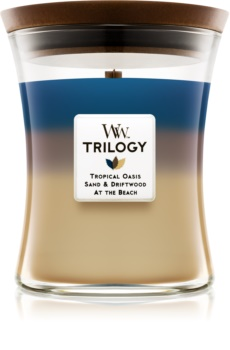 Woodwick Trilogy Nautical Escape ароматна свещ  275 гр. среден