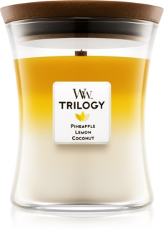 Woodwick Trilogy Fruits of Summer lumanari parfumate  275 g mediu
