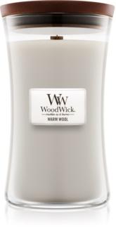Woodwick Warm Wool candela profumata 609,5 g grande