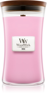 Woodwick Rose Scented Candle 609,5 g Wooden Wick