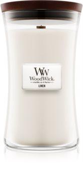 Woodwick Linen illatos gyertya  609,5 g nagy