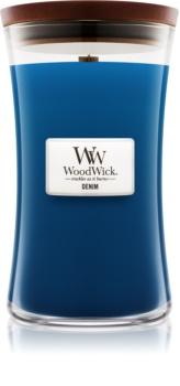 Woodwick Denim illatos gyertya  609,5 g nagy