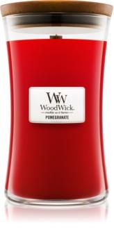 Woodwick Pomegranate dišeča sveča  609,5 g z lesenim stenjem