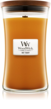 Woodwick Hot Toddy lumânare parfumată  609,5 g mare