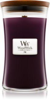Woodwick Fig lumânare parfumată  cu fitil din lemn 609,5 g