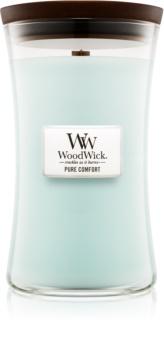 Woodwick Pure Comfort lumânare parfumată  609,5 g cu fitil din lemn