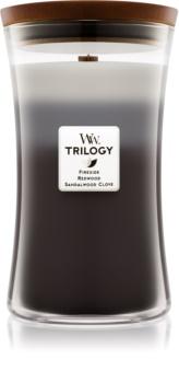 Woodwick Trilogy Warm Woods candela profumata 609,5 g grande