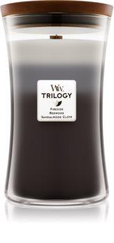 Woodwick Trilogy Warm Woods vonná svíčka 609,5 g velká