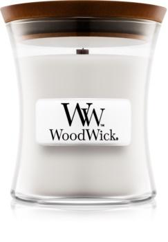 Woodwick Warm Wool bougie parfumée 85 g avec mèche en bois