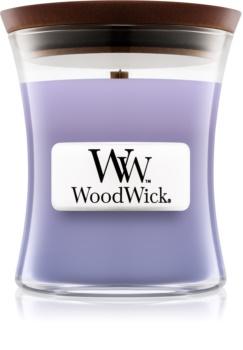 Woodwick Lilac vela perfumada  85 g con mecha de madera