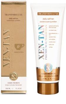Xen-Tan Light creme autobronzeador para corpo e rosto de  bronzeamento gradual