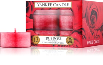 Yankee Candle True Rose čajová sviečka 12 x 9,8 g