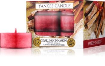 Yankee Candle Sparkling Cinnamon čajová sviečka 12 x 9,8 g
