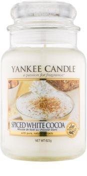 Yankee Candle Spiced White Cocoa candela profumata 623 g Classic grande