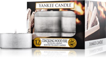 Yankee Candle Crackling Wood Fire Tealight Candle 12 pc