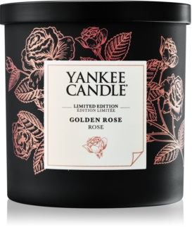 Yankee Candle Golden Rose vela perfumado 198 g pequeno