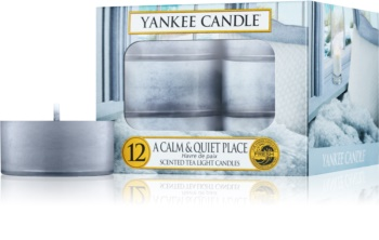 Yankee Candle A Calm & Quiet Place čajová svíčka 12 x 9,8 g