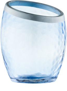 Yankee Candle Pearlescent Crackle skleněný svícen na votivní svíčku    Blue