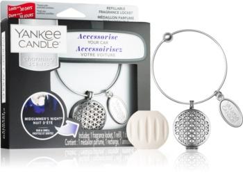Yankee Candle Midsummer´s Night parfum pentru masina   pandantiv + refill (Linear)