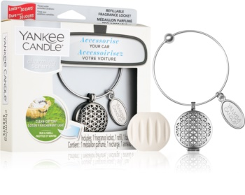 Yankee Candle Clean Cotton parfum pentru masina   pandantiv + refill (Geometric)