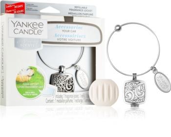 Yankee Candle Clean Cotton désodorisant voiture pendentif + recharge (Square)