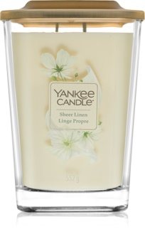 Yankee Candle Elevation Sheer Linen lumânare parfumată  552 g mare