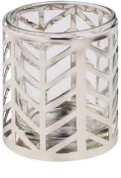 Yankee Candle Arrow Chrome sklenený svietnik na votívnu sviečku