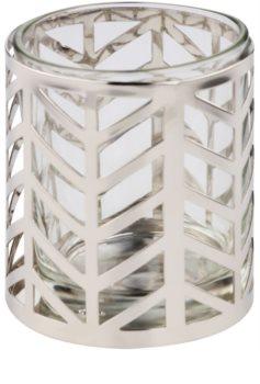 Yankee Candle Arrow Chrome szklany świecznik na sampler