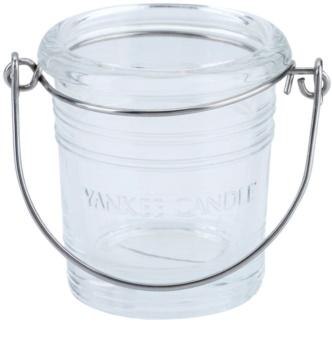 Yankee Candle Glass Bucket sklenený svietnik na votívnu sviečku I. Clear glass