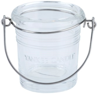 Yankee Candle Glass Bucket szklany świecznik na sampler   I. Clear glass