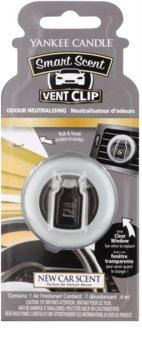 Yankee Candle New Car Scent ambientador de coche para ventilación 4 ml clip