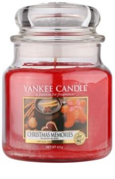 Yankee Candle Christmas Memories illatos gyertya  411 g Classic közepes méret