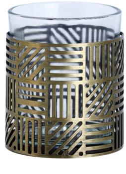 Yankee Candle Crosshatch Brass Portavelas de vidrio