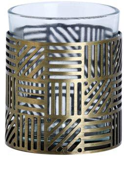 Yankee Candle Crosshatch Brass Üveg gyertyatartó fogadalmi gyertya alá