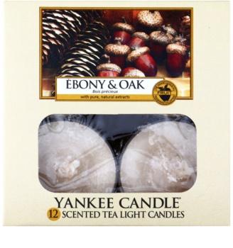Yankee Candle Ebony & Oak čajová svíčka 12 x 9,8 g