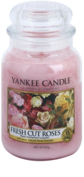 Yankee Candle Fresh Cut Roses bougie parfumée 623 g Classic grande