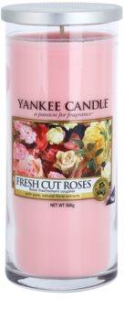 Yankee Candle Fresh Cut Roses vonná svíčka 566 g Décor velká