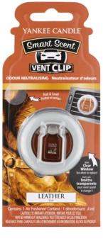 Yankee Candle Leather parfum pentru masina 4 ml Clip