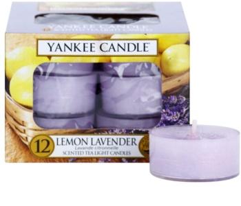 Yankee Candle Lemon Lavender čajová svíčka 12 x 9,8 g