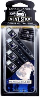Yankee Candle Midsummer´s Night odświeżacz do samochodu 4 szt.