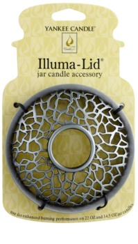 Yankee Candle Matrix Brushed Candle Topper   for Scented Candle Classic, Large and Medium (Silver)