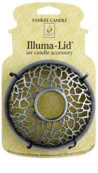 Yankee Candle Matrix Brushed Ozdobný prstenec   na vonnou svíčku Classic velký a střední (Silver)