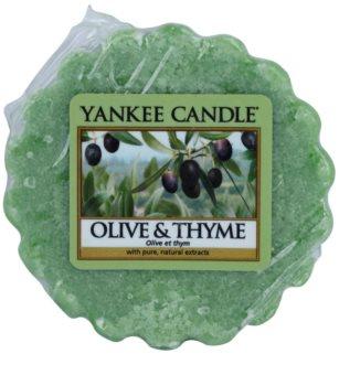Yankee Candle Olive & Thyme cera para lámparas aromáticas 22 g