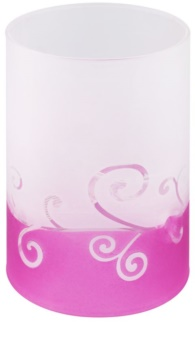 Yankee Candle Purple Scroll Kerzenhalter aus Glas für Teelichter