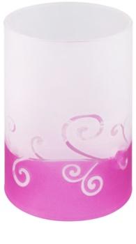 Yankee Candle Purple Scroll Portavelas de vidrio para velas de té