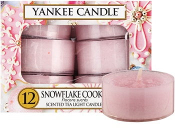 Yankee Candle Snowflake Cookie świeczka typu tealight 12 x 9,8 g