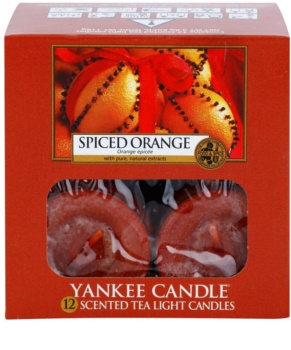 Yankee Candle Spiced Orange čajová sviečka 12 x 9,8 g