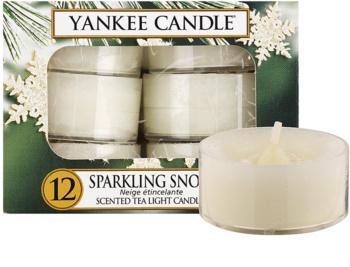 Yankee Candle Sparkling Snow čajová sviečka 12 x 9,8 g