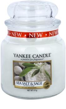 Yankee Candle Sea Salt & Sage vonná sviečka 411 g Classic stredná