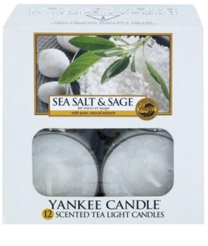 Yankee Candle Sea Salt & Sage Theelichtje  12 x 9,8 gr